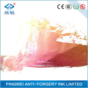 rose red to golden optical variable ink for screen printing