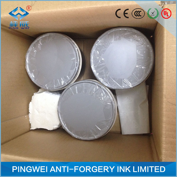 white watermark ink by offset printing