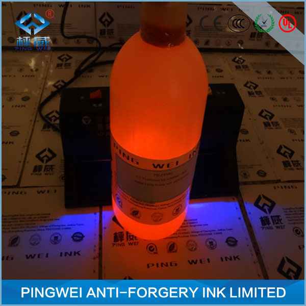 Red invisible ink for uv drying uv inkjet printing(A)