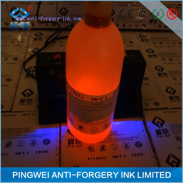 White invisible ink for offset printing