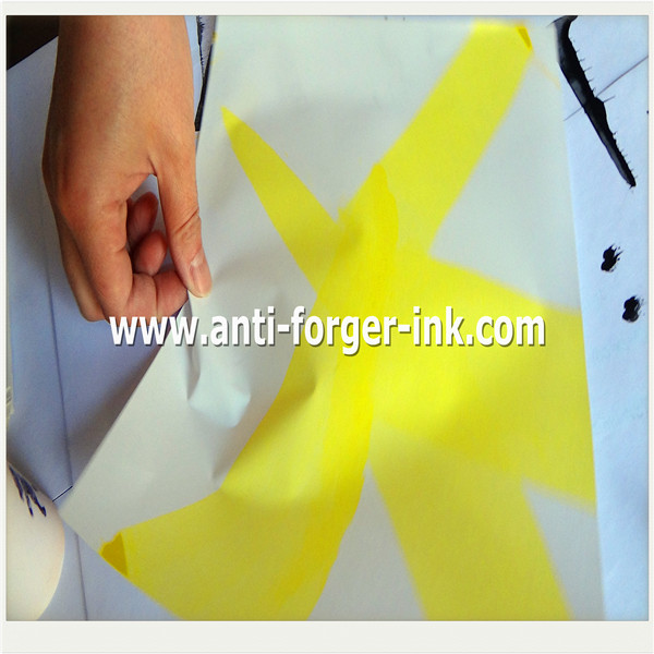 yellow to red UV Fluorescent Ink for intaglio printing