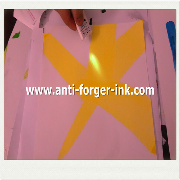 yellow to red UV Fluorescent Ink for uv relief printing