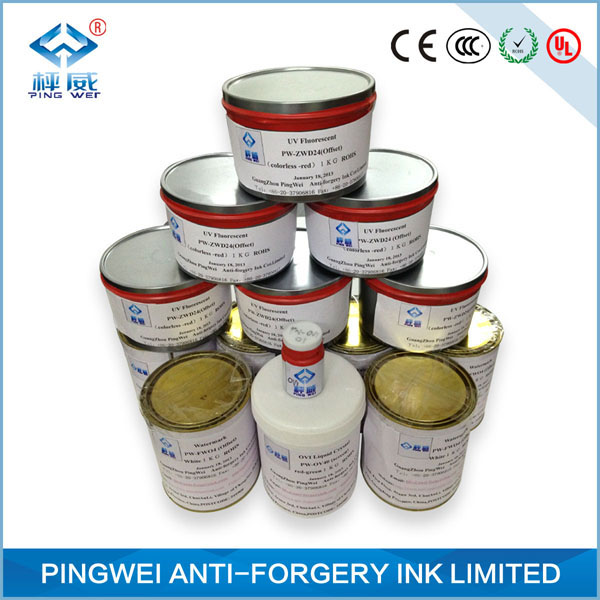 Golden red to invisible Temperature ink for uv screen printing