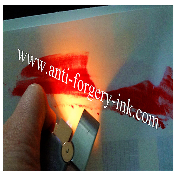 Rose red to invisible Temperature ink for gravure printing