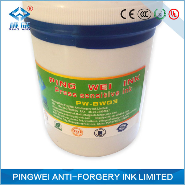 invisible to dark green Temperature sensitive ink for screen printing