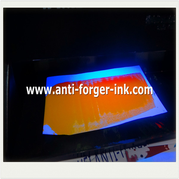 Black to yellow UV Fluorescent Ink for water screen printing