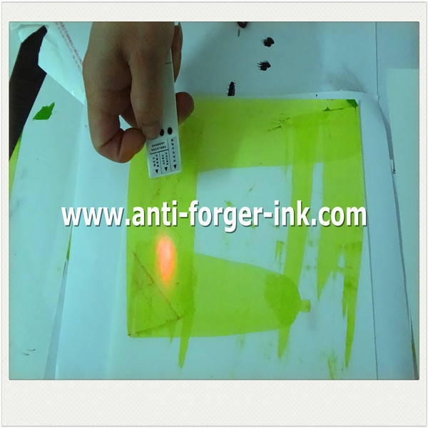 Black to yellow UV Fluorescent Ink for offset printing