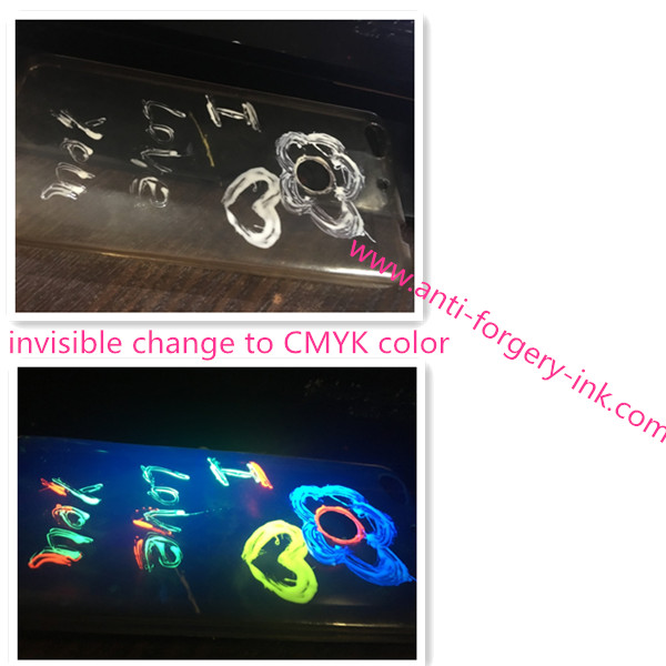 White invisible ink for uv flexographic printing