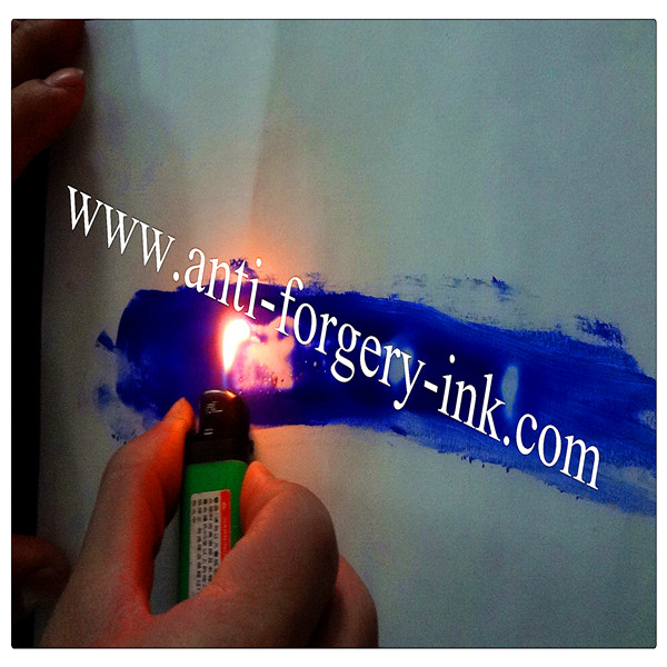 Royal blue to invisible Temperature ink for uv screen printing