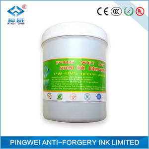 Silver-green optical variable ink for UV screen printing