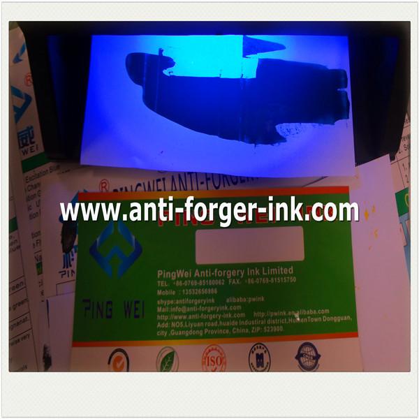 how to make uv light ink